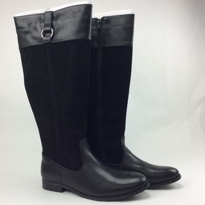 Bass Women's Megan Suede and Leather  Riding Boot